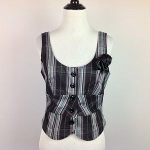 New Maurices Vest Top Womens Small Plaid